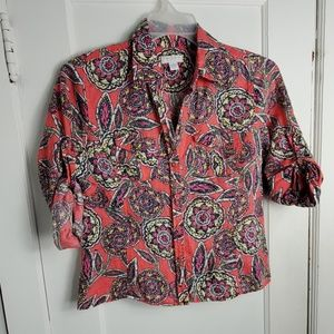 Charter Club 12Petite button down coral pink